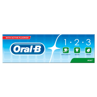 Oral-B 123 Fluoride Toothpaste Mint 100ml