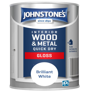 Johnstone's Quick Dry Gloss Paint 750ml - Brilliant White