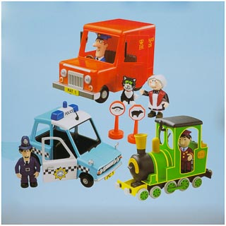 Postman Pat Friction Action 3 Vehicle Playset