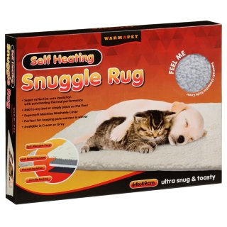 Self-Heating Pet Snuggle Rug - Grey