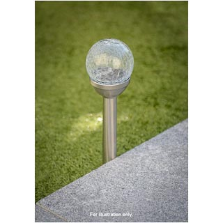 Crackle Ball Solar Post Light