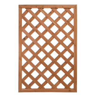 Straight Framed Diamond Trellis