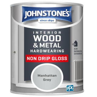 Johnstone's Hardwearing Non Drip Gloss Paint 750ml - Manhattan Grey