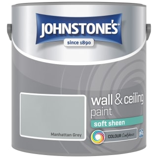Johnstone's Paint Vinyl Soft Sheen Emulsion - Manhattan Grey 2.5L