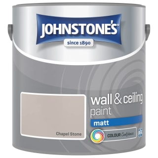 Johnstone's Paint Vinyl Matt Emulsion - Chapel Stone 2.5L