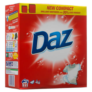 Daz 22 Washes Value Pack Biological Laundry Powder 1496g