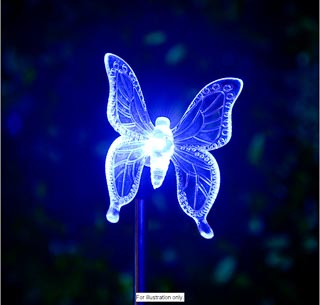 Colour Changing Solar Stake Light - Butterfly