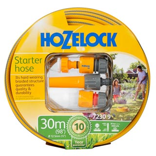 Hozelock 30m Starter Hose with Fittings