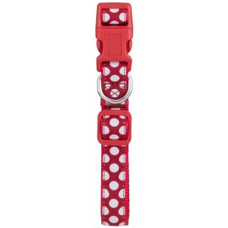 Pooch Couture Adjustable Dog Collar - Medium - Red Spots
