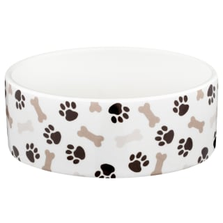 Small Ceramic Pet Bowl - Bones