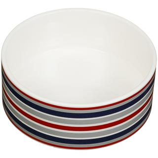 Large Ceramic Pet Bowl - Stripe