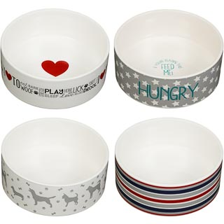 Large Ceramic Pet Bowl - Hungry Star