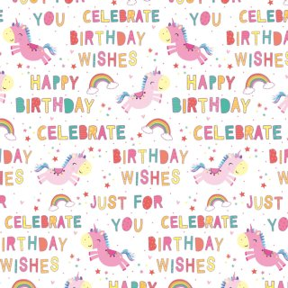 Kids Everyday Wrapping Paper 3m - Unicorns