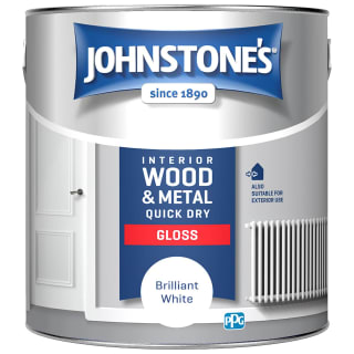 Johnstone's Quickdry Gloss Paint 2.5L - Brilliant White