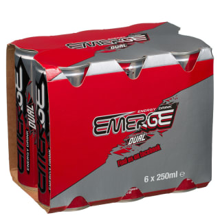Emerge Dual Energy Drink 6 x 250ml