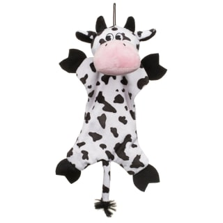 Farmyard Animals Dog Toys - Crinkle Squeak Cow