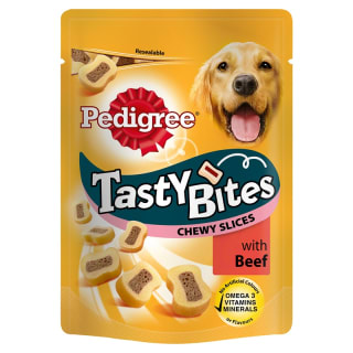 Pedigree Tasty Bites Chewy Slices - Beef 155g