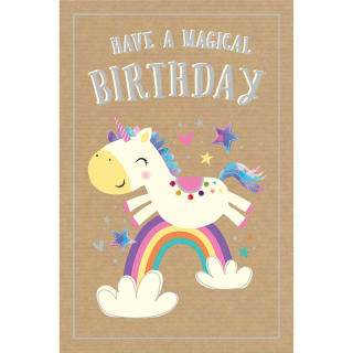 Happy Birthday - Unicorn - Birthday Card