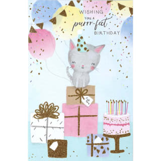 Purrrfect - Birthday Card