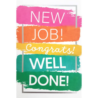 Paint Strokes - Congratulations Card