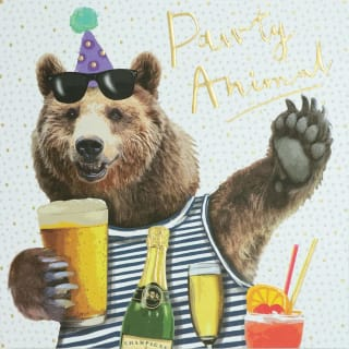 Party Animal Greetings Card