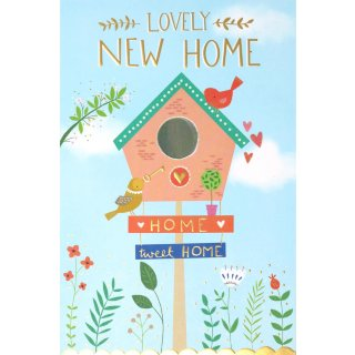 Lovely New Home Greetings Card