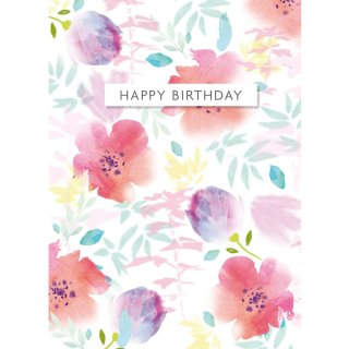 Floral - Birthday Cards 6pk