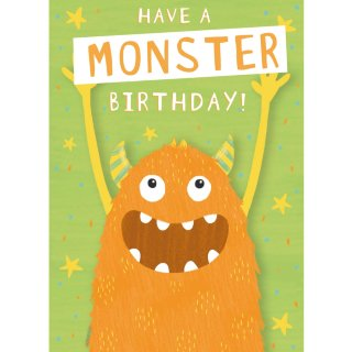 Monster - Birthday Cards 6pk