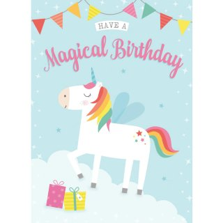 Magical Unicorn - Birthday Cards 6pk