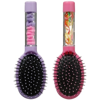 Children's Hair Brush with Bobbles - Purple