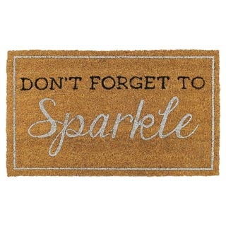 Sparkle Coir Doormat - Don't Forget to Sparkle