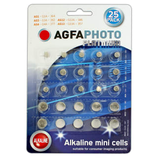 AGFA Alkaline Mini Cell Batteries 25pk