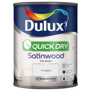 Dulux Quick Dry Satinwood Paint - Timeless 750ml
