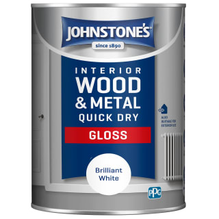 Johnstone's Quick Dry Gloss Paint 1.25L - Brilliant White