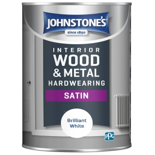 Johnstone's Hardwearing Satin Paint 1.25L- Brilliant White