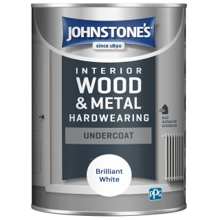 Johnstone's Hardwearing Undercoat Paint 1.25L - Brilliant White