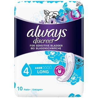 Always Discreet Long Pads 10pk