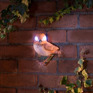 Solar Powered Garden Bird - Brown