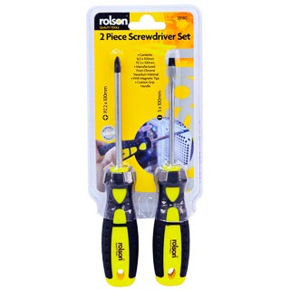 Rolson Screwdriver Set 2pc