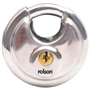 Rolson Stainless Steel Disc Padlock 70mm