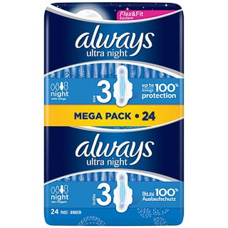 Always Ultra Night Protection 24pk