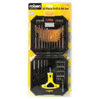 Rolson Drill & Bit Set 50pc