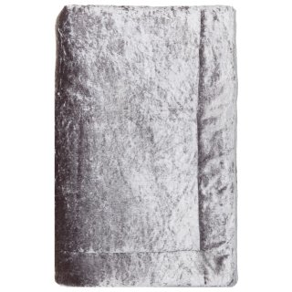 Crushed Velvet Throw - Silver
