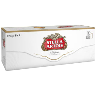 Stella Artois Lager Cans Fridge Pack 10 x 330ml