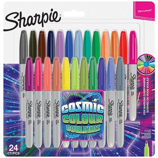 Sharpie Cosmic Colour Fine Point Permanent Markers 24pk