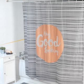 Beldray Peva Shower Curtain - Hey Good Looking