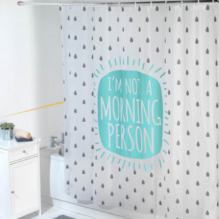 Beldray Peva Shower Curtain - Morning Person