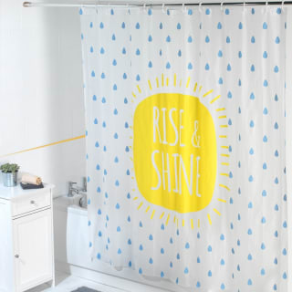 Beldray Peva Shower Curtain - Rise & Shine