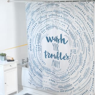 Beldray Peva Shower Curtain - Wash Your Troubles Away