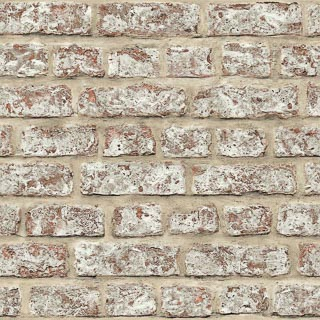 Arthouse Rustic Brick Wallpaper - Red